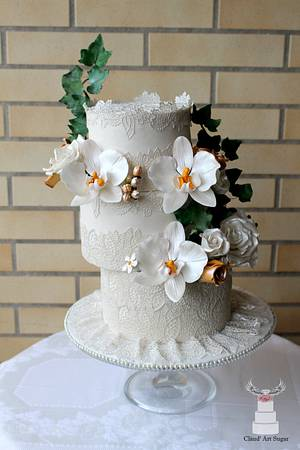 CPC-Royal-Wedding -Dresses-collaboration Princess Stephanie de Lanoy of Luxembourg  - Cake by Cláud' Art Sugar