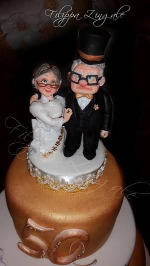 50 th wedding  - Cake by filippa zingale