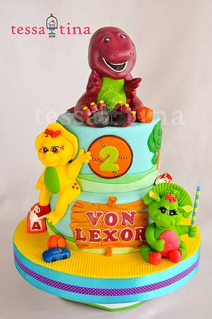 Barney and Friends cake - Cake by tessatinacakes