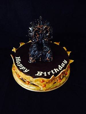 Game of Thrones - Iron Throne - Cake by Lesley