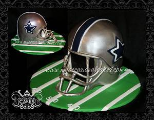 3-D Cowboys Football Helmet Cake - Cake by Occasional Cakes