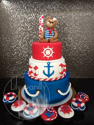 """Sailor Teddy"" Birthday Cake - Cake by Lily Vanilly"