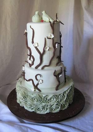 Turtle doves  - Cake by Trine Skaar