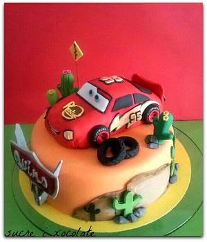 Cars,Rayo Mcqueen!! - Cake by Pelegrina