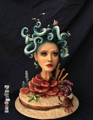"""Oceanusa"" - Cake by Puckycakes"
