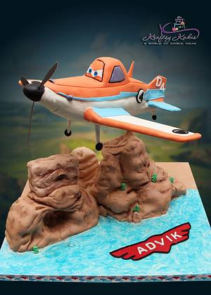 Disney Planes Movie - Cake by Kraftsy Kakes (Sri)