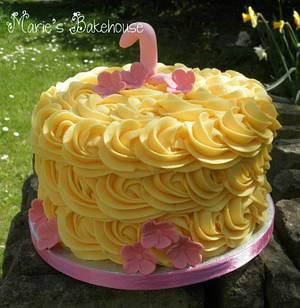 1st birthday buttercream swirl smash cake - Cake by Marie's Bakehouse