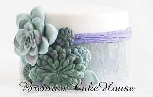 succulent cake - Cake by Brenda Bakker