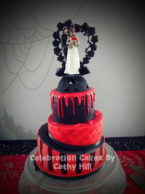 A Halloween Wedding  - Cake by Celebration Cakes by Cathy Hill