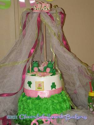 Frog Canopy baby shower cake - Cake by LeAnn Wheat