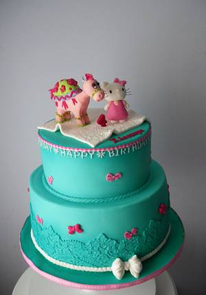 Hello kitty and friend cake - Cake by Rositsa Lipovanska