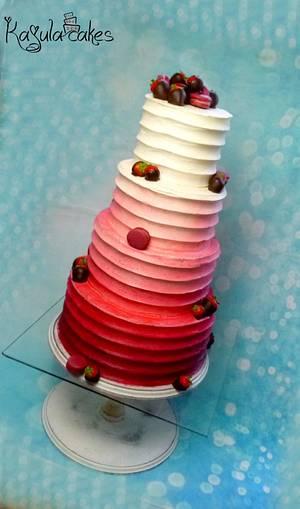 Wedding cake - Cake by Kajulacakeslbc