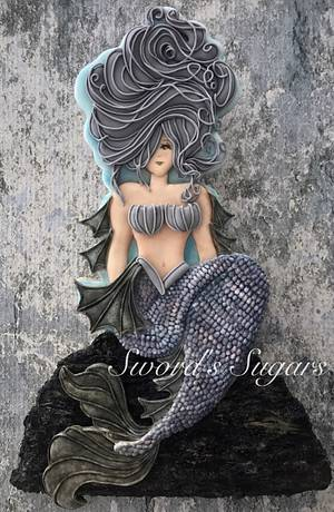 Mermaid, Under the Sea Collaboration - Cake by Sword's Sugars