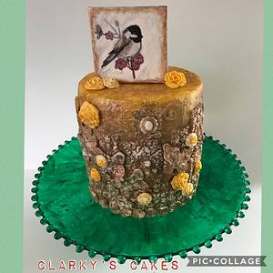 """Bronze Bas Relief - Cake by June (""""Clarky's Cakes"""")"""