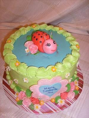 Isabella's Ladybug - Cake by Pamela