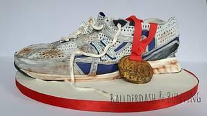 Running shoe cake - Cake by Ballderdash & Bunting