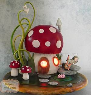 Toadstool cake - Cake by Ioannis - tourta.apo.spiti