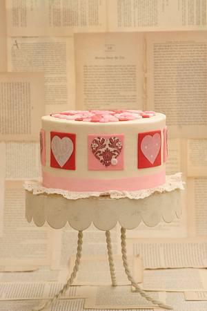 Pillow Inspired Vintage Valentine - Cake by SarahBeth3