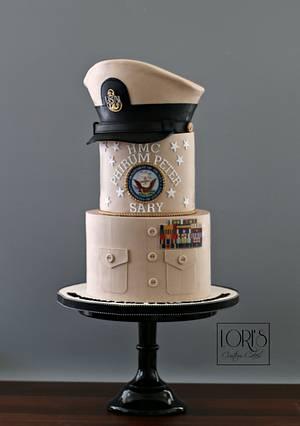 Navy Retirement Cake - Cake by Lori Mahoney (Lori's Custom Cakes)
