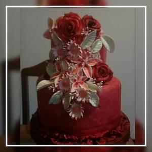 flowers cake - Cake by Gisela Gañan