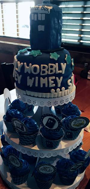 Dr. Who Cake and Cupcakes - Cake by Chris