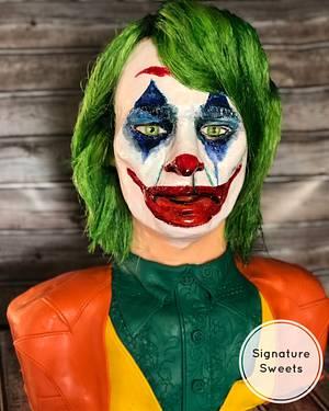 Joker Cake -Joaquin Phoenix version - Cake by K Hall