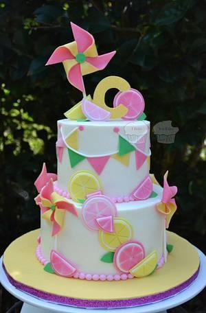 Lemons & Pinwheels - Cake by Susan