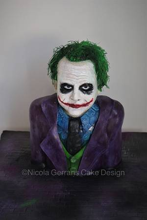 Heath Ledger's 'Joker' cake  - Cake by Nicola Gerrans