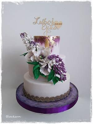 Purple wedding cake - Cake by Zuzana Kmecova