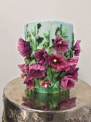 The1 Cake Collab Embroidery Inspired Wafer Paper Florals - Cake by Natalie Madison