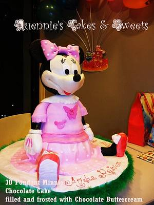 3D Minnie Mouse Fondant Cake - Cake by quennie