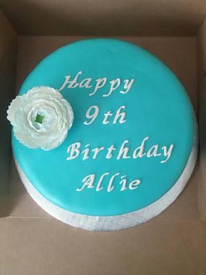 Simple, elegant blue birthday - Cake by m1bame