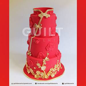 Chinese Engagement Cake - Cake by Guilt Desserts