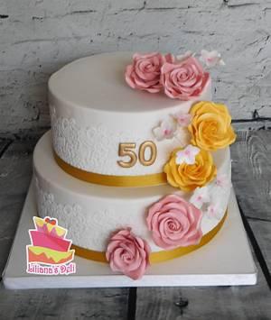 50th aniversary cake - Cake by Liliana Vega