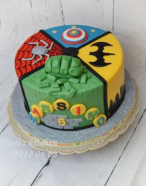 Superheroes cake - Cake by Cakes by Toni