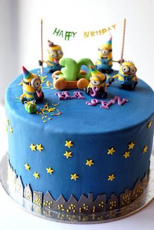 Minion pinata cake - Cake by Rabarbar_cakery