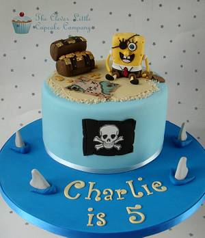 Pirate and Spongebob Cake - Cake by Amanda's Little Cake Boutique