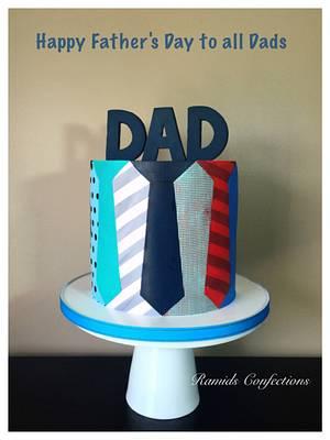 Happy Father's Day Tie Cake - Cake by Ramids