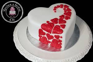 Just Hearts :-) - Cake by Tynka