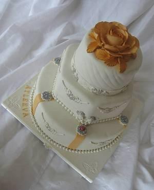 Orange wedding  - Cake by Trine Skaar
