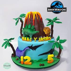 Torta de Dinosaurios en Medellín - Cake by Dulcepastel.com