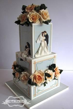 Art Nouveau Wedding Cake - Cake by Angela Penta