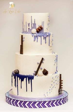 Drip wedding cake - Cake by Deva Williamson