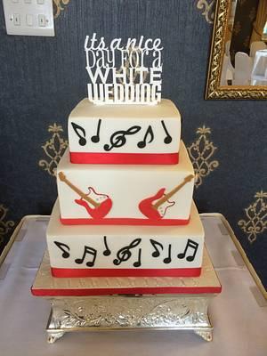 Music Theme Wedding Cake - Cake by Mimi's Sweet Treats