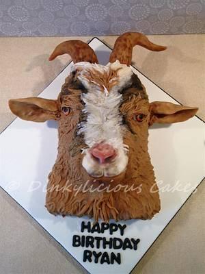Goat Cake - Cake by Dinkylicious Cakes