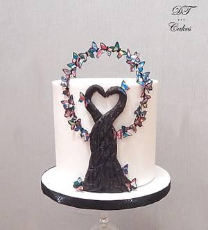 Cakes Against Violence collab - Cake by Djamila Tahar (DT Cakes)