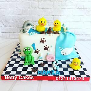 Bathtub baby cake  - Cake by BettyCakesEbthal