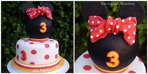 Minnie Mouse inspired - Cake by Sarah Jones