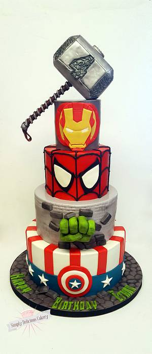 Marvel Avengers  - Cake by Simply Delicious Cakery