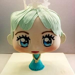 Elsa Chibbi Cake - Cake by Alison Menezes